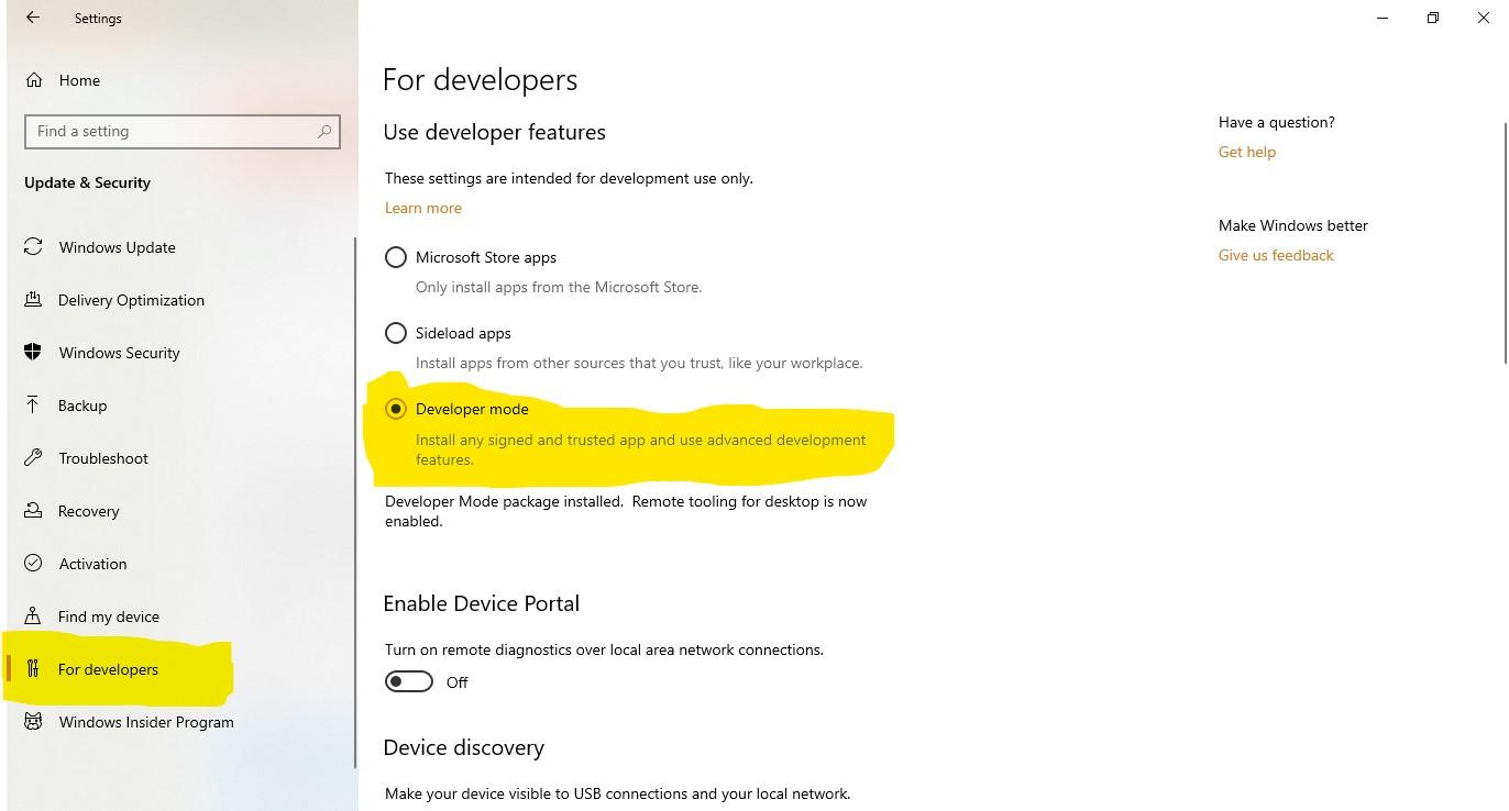 Windows Developers